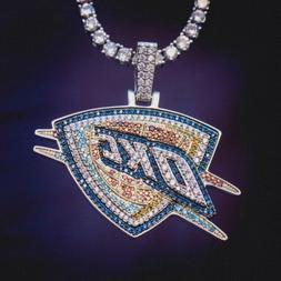 2 ct Round Multi Color Sim Diamond Men's Oklahoma City Thund