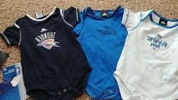 3 pc. Adidas NBA Oklahoma City Thunder Baby Infant One Piece