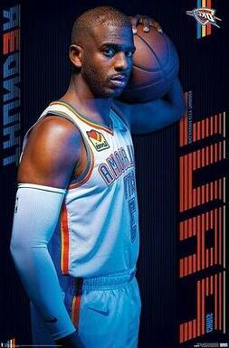 CHRIS PAUL - OKLAHOMA CITY THUNDER POSTER - 22x34 - NBA BASK