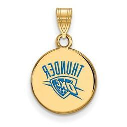 Gold Plated Sterling Silver NBA LogoArt Oklahoma City Thunde