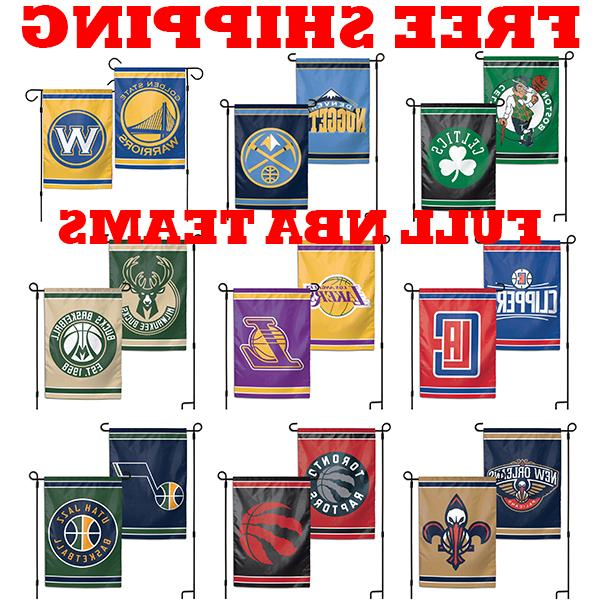 full nba 2018 outdoor garden flag double