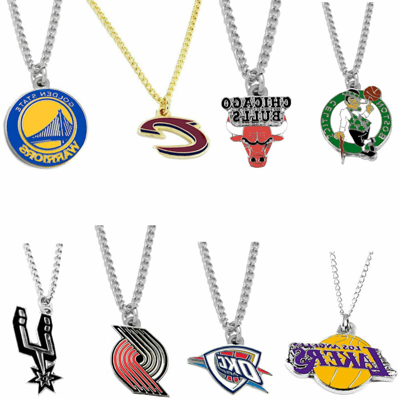 logo necklace charm pendant nba pick your