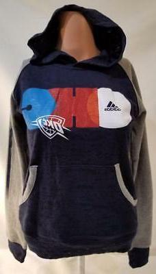 LZ Girls Size Large ADIDAS Oklahoma City Thunder Hoodie Pull