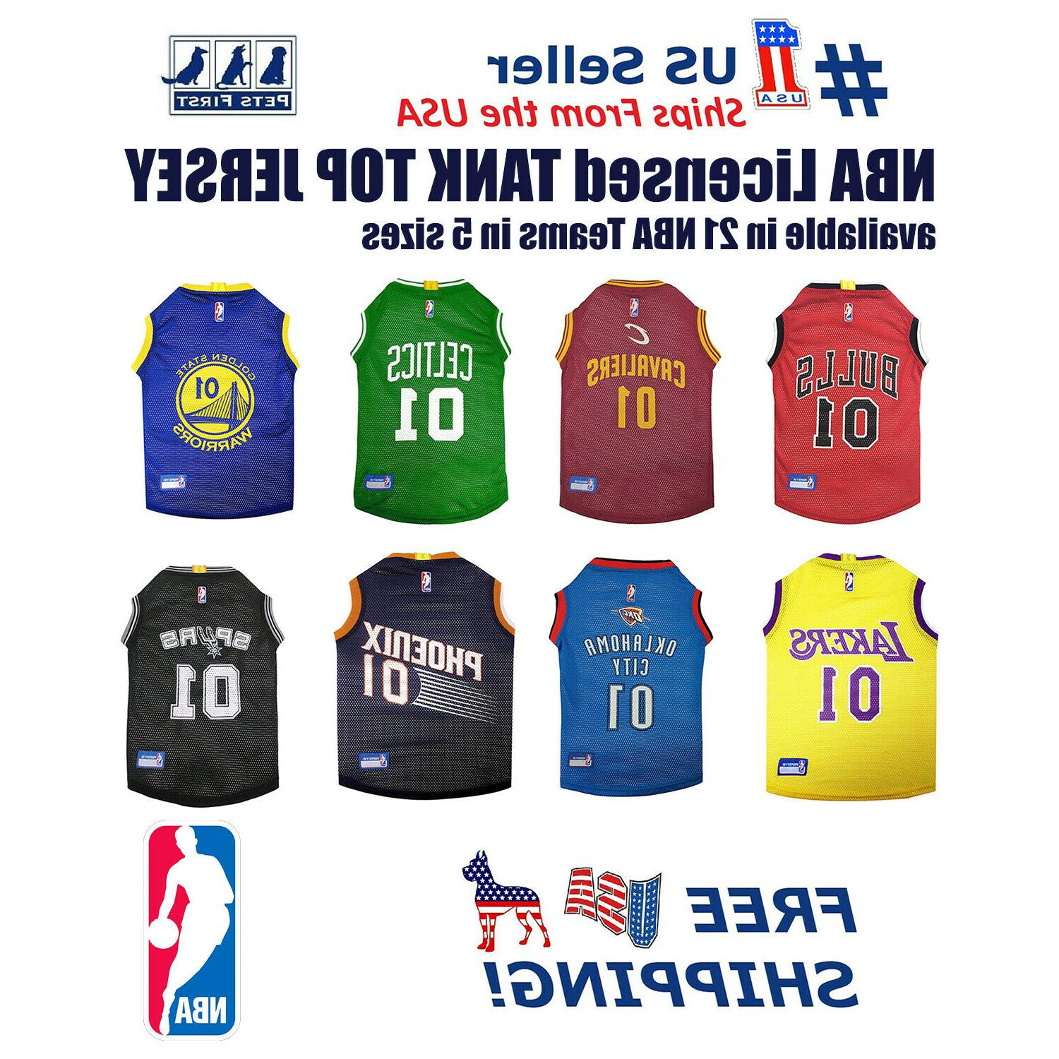 nba jersey for dog and cats licensed