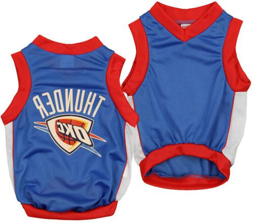nba oklahoma city thunder basketball dog jersey