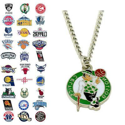 nba pendant necklace choose your team