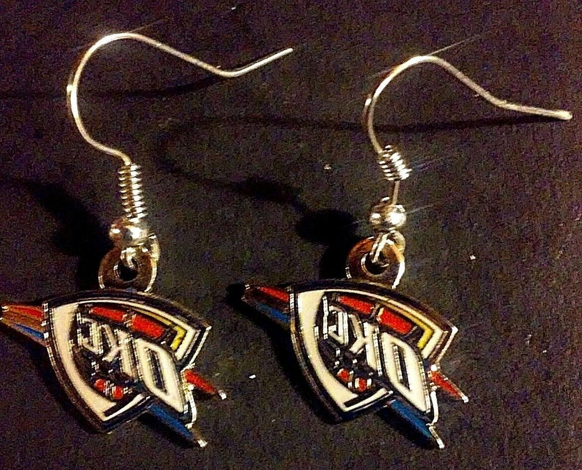 New, Oklahoma Logo Earrings by Aminco, Wire,