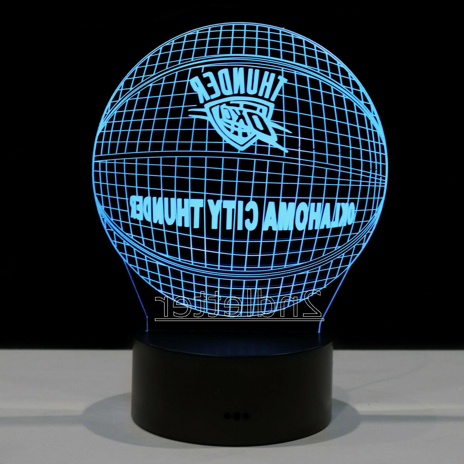 okc russell westbrook led light lamp collectible