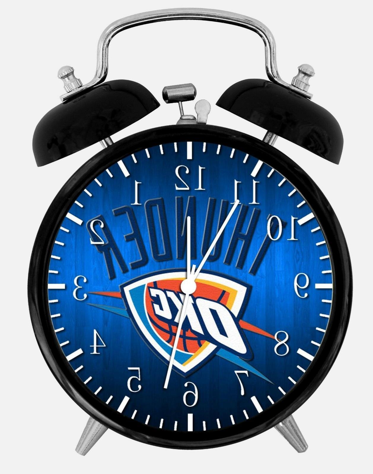 oklahoma city thunder alarm desk clock 3