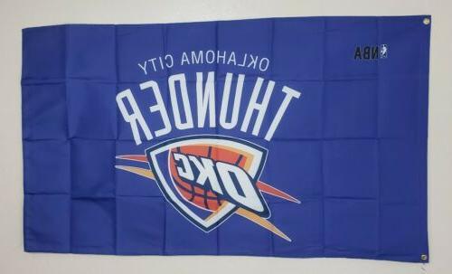oklahoma city thunder banner okc 3x5 ft