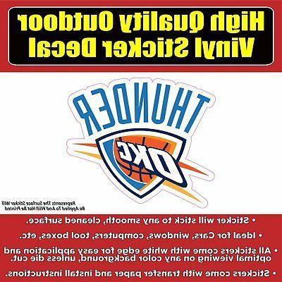 oklahoma city thunder basketball vinyl car window