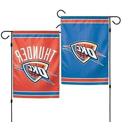 oklahoma city thunder double sided garden flag