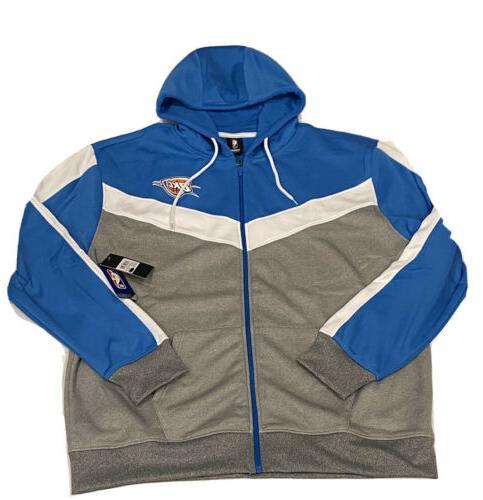 oklahoma city thunder full zip hooded sweater