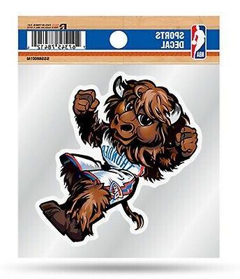 oklahoma city thunder mascot logo premium 4x4