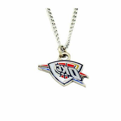 oklahoma city thunder pendant necklace nba