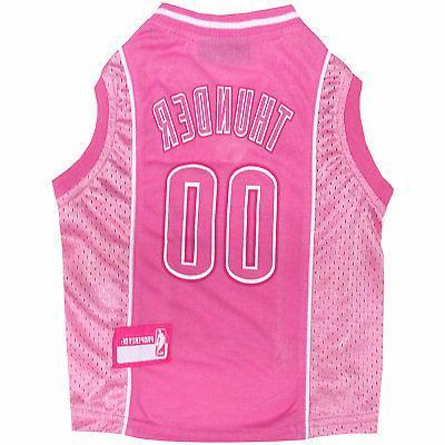 oklahoma city thunder pink jersey