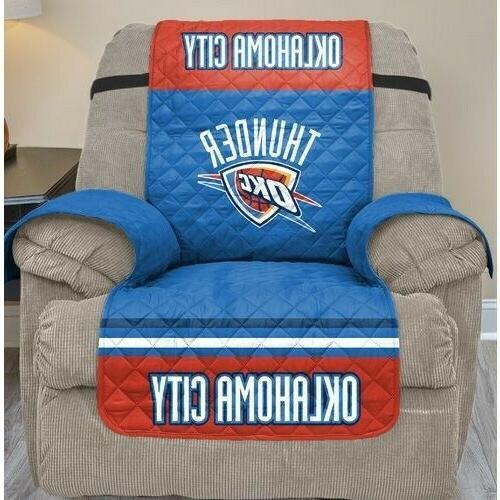 oklahoma city thunder recliner slipcover nba team