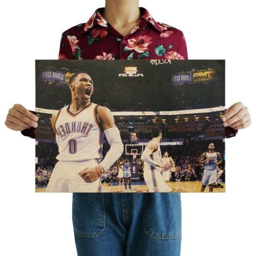 oklahoma city thunder russell westbrook sports poster