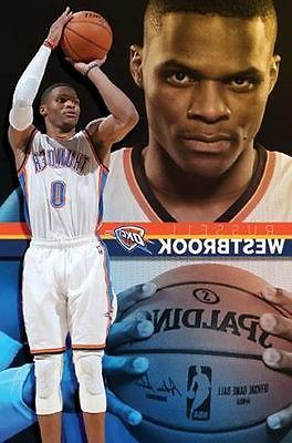 russell westbrook oklahoma city thunder poster 22x34