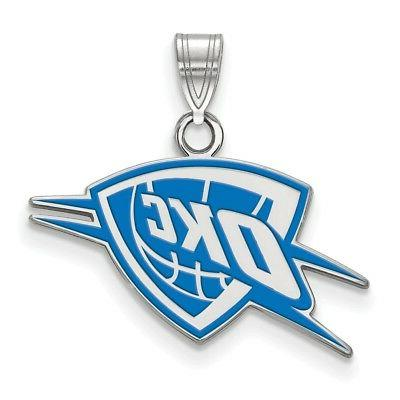sterling silver logo art oklahoma city thunder