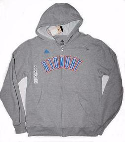 adidas Men's Oklahoma City Thunder Gray Full Zip Hoodie Swea