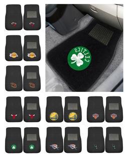 "NBA - 2-piece Embroidered Car Mats Basketball Team Logo 18"""