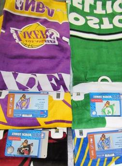 """NBA Beach Towel 100% Cotton 30"""" by 60"""" by WinCraft -Select-"""