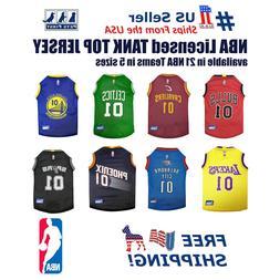 NBA Jersey for DOG & CATS - Licensed, Comfy Mesh, 21 Basketb