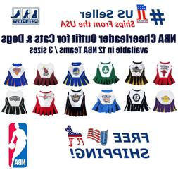 Pets First NBA Licensed Cheerleader Outfit for Dogs and Cats