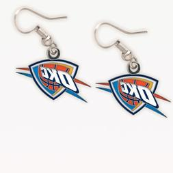 NBA Oklahoma City Thunder Earrings Jewelry Card