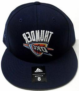 NBA Oklahoma City Thunder Adidas Fitted Size 8 Hat Cap Flat