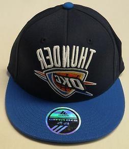 NBA Oklahoma City Thunder Adidas Flat Visor Fitted Cap Hat N