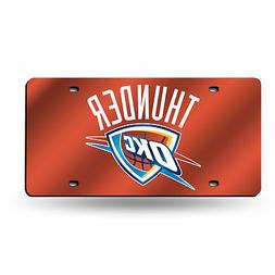 NBA Oklahoma City Thunder Laser Cut License Plate, Orange