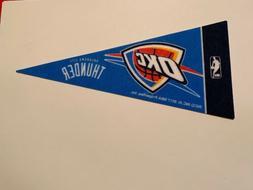 "NBA Oklahoma City Thunder Mini Pennant Flag 4""x9"" NEW Basket"