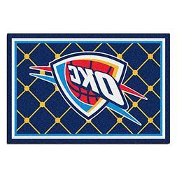 FANMATS NBA Oklahoma City Thunder Nylon Face 5X8 Plush Rug