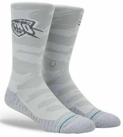 STANCE NBA Oklahoma City Thunder Snow Crew Socks OKC Grey La