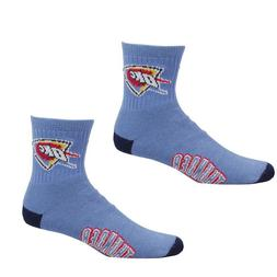 NBA Oklahoma City Thunder Men's Team Quarter Socks, Large