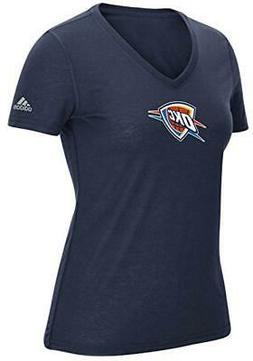 """NBA Oklahoma City Thunder Women's Team Logo 6"""" Short Sleeve"""