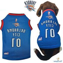 NBA Pet Fan Gear OKLAHOMA CITY THUNDER Dog Jersey Shirt Tank