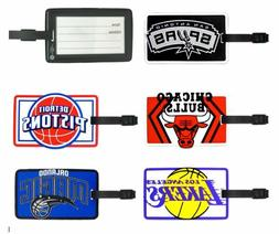 nba soft rubber luggage and bag tag