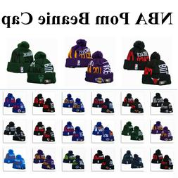 New Embroidered All Teams Logo Basketball Beanie Hat Knitted