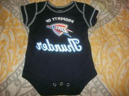 NEW OKC Oklahoma City Thunder Infant Bodysuit Creeper Baby 0