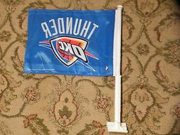 NEW Oklahoma City Thunder BLUE Car/Auto Flag