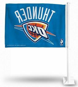 New Oklahoma City Thunder Double Sided Car Flag