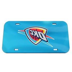 OKC Oklahoma City Thunder License Plate Mirrored Acrylic Mir