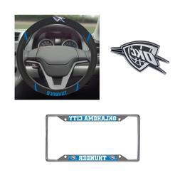 OKC Thunder Steering Wheel Cover, License Plate Frame, 3D Ch