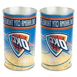 OKC Thunder Trash Can Waste Basket Garbage Logo