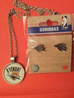 OKLAHOMA CITY NBA THUNDER JEWELRY OKC Brand New SET-- PENDAN