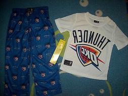 Oklahoma City OKC Thunder Pajamas NBA Sleepwear Boys Sz 4-6
