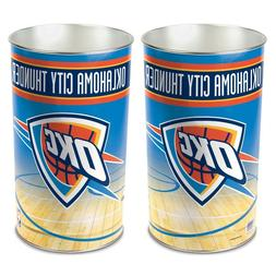 "OKLAHOMA CITY THUNDER 15""X10.5"" TRASH CAN WASTEBASKET BRAND"